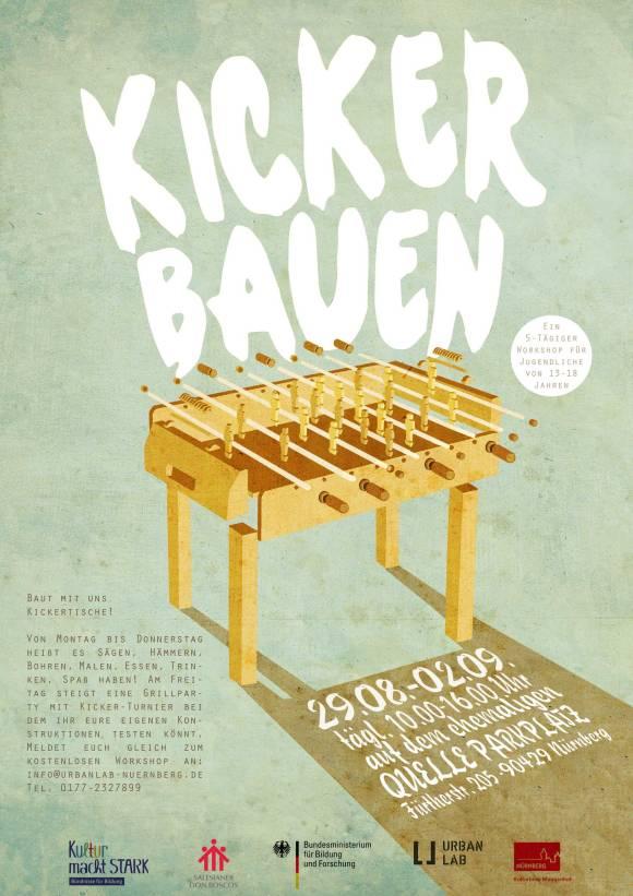 Poster KICKER BAUEN