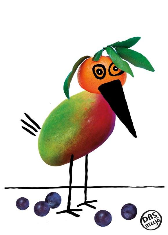 Illustration Nürnberg - Obst-Vogel