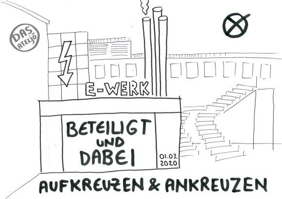 """Veranstaltung: """"Aufkreuzen und Ankreuzen"""", Stadtjugendring Erlangen im E-Werk"""